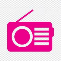 Radio ikon vektor illustration