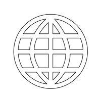Globe jorden ikon vektor illustration