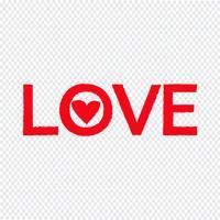kärlek ikon vektor illustration