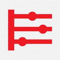 Tidslinje ikon vektor illustration