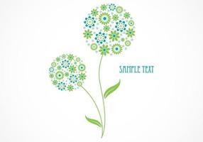 Zusammenfassung Floral Vector Wallpaper