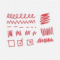 Gekritzel Linie Symbol Vektor-Illustration