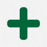 Plus-Symbol Vektor-Illustration vektor