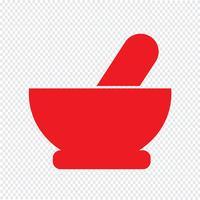 Mortar pestle ikon vektor illustration