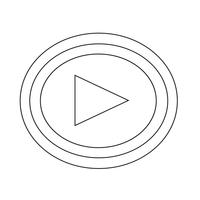 Spela ikon vektor illustration