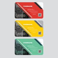 Färgrik visitkortsamling vektor