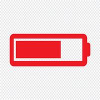 Batteri ikon Vektor illustration
