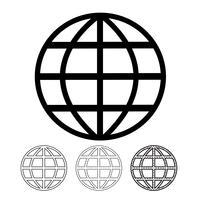 Globe vektorikonen vektor