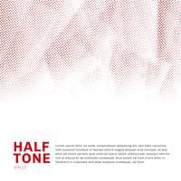 Niedriges modisches Poly der abstrakten roten Halbtonschablone auf weißem Hintergrund mit Kopienraum. Sie können für Website, Broschüre, Flyer, Cover, Banner usw. verwenden.