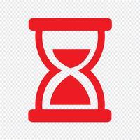 Hourglass ikon vektor illustration