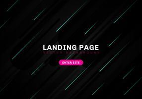 Abstrakte minimale geometrische schwarze Farbhintergrund-Technologieart. Template Website Landing Page. Dynamische blaue Elementzusammensetzung