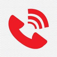 Telefon symbol ikon vektor illustration