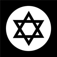 Star David-ikonen vektor
