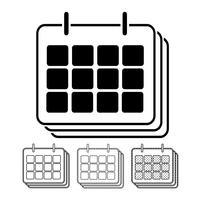 Kalendervektorns ikon Illustrationsdesign