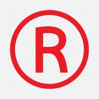 Registrierte Warenzeichen Symbol Vektor-Illustration