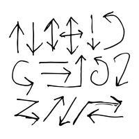 Handtecknad pilikon
