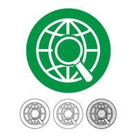 Globus-Vektor-Symbol