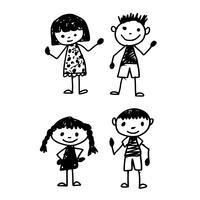 Hand zeichnen Kind Cartoon vektor