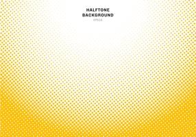 Abstrakt gul halvton radial effekt på vit bakgrund. Vintage eller retro grafisk stil.