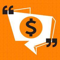 Dollar tecken pengar ikon vektor