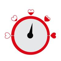 Valentinstagkartenidee Liebesmeßinstrument vektor