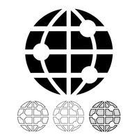 Globe vektorikonen