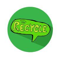 Recycling-Zeichen-Symbol vektor