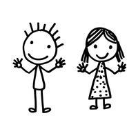 Hand gezeichnete Kinderkarikatur vektor