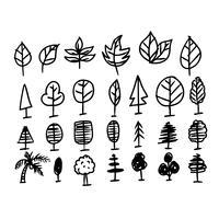 Hand zeichnen Blattsymbol