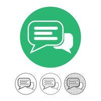 Sprechblasen-Chat-Vektor-Symbol vektor
