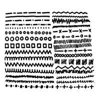 Hand gezeichnete Tintenskizzenlinie vektor