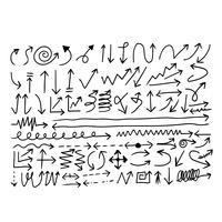 Handgezeichnete Pfeilsymbol vektor