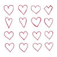 Handgezeichnete Herz-Symbol