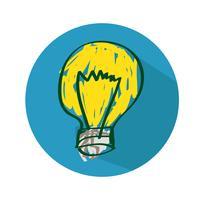 Glödlampa ikon vektor