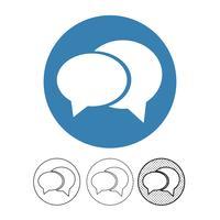 Sprechblasen-Chat-Vektor-Symbol