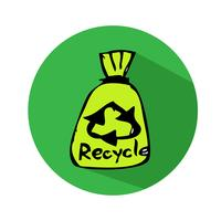 Recycle sign icon