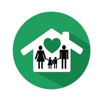 Familj ikon vektor illustration