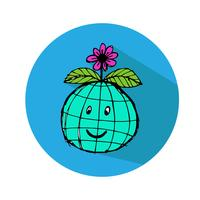 Globus Erde Vektor Icon