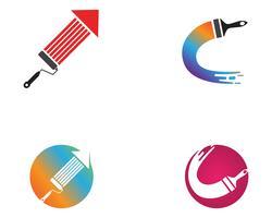 Paint Logo Mall vektor ikon illustration