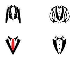 Smoking Mann Logo und Symbole schwarz Icons Vorlage vektor