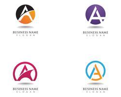 Ein Logo und Symbole vektor