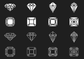 diamant och pärla vektor pack