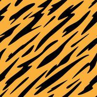 Abstraktes schwarzes und orange Streifen-nahtloses wiederholendes Muster vektor