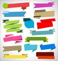 Moderne Abzeichenaufkleber und Aufklebersammlung vektor