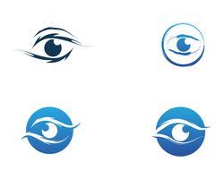 Ögonvårdslogotyp och symbolmall vektorikoner
