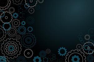 abstrakte Zahnrad Hintergrund vektor