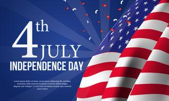 Amerikanska självständighetsdagen banner mall