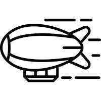 Luftschiff-Symbol Vektor