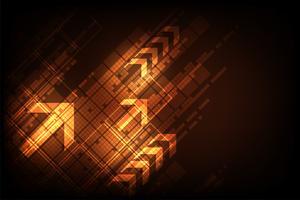 Digitales Design der abstrakten Hintergrundtechnologie des Vektors.