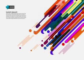 Multi farbiger geometrischer abstrakter Hintergrund mit modernem Design des Kopienraumes, Vektor-Illustration vektor